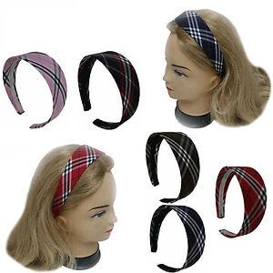 Chic Plaid Wide Headband Hair band Women Girl