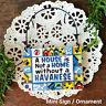 DECO Mini Sign HAVANESE DOG Wood Ornament  Breeds Everyday Gift  Decoration USA