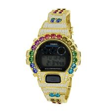 Rainbow Solitaire Gold 2 Tone Authentic Custom G-Shock DW-6900 Casio Men's Watch