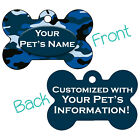 Blue Camo Double Sided Pet Id Dog Tag Personalized for Your Pet
