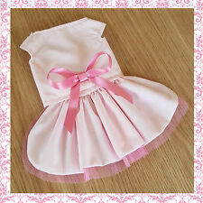 Handmade Dog Dress For Small Dogs Clothing - Pink Princess - Puppy Chihuahua