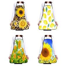 JF_ Women Sunflower Print Cooking Baking Apron Oil Proof Waterproof Wear Resis