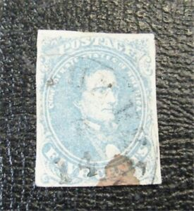 nystamps US CSA Confederate Stamp # 4 Used $125   J15x1310