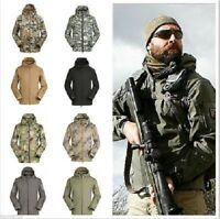 Men's Outdoor Jacket Waterproof Coat Jacket Soft Shell Hoodie Camping Hunting