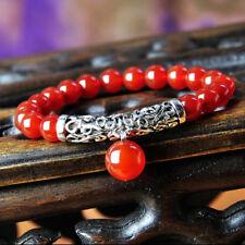 Miao Silver Ethnic Red Carnelian Bracelet 001