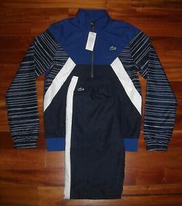 NWT Lacoste Men's Tracksuit  Size S  Color Navy / White / Blue  $250