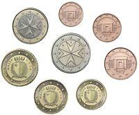 Malta 2014 Kursmünzen 1 Cent bis 2 Euro im Münzstreifen