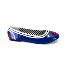 Zapatos de tacón de mujer planos de color principal azul