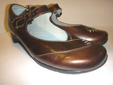 Wolky 'Argentina' Polished Leather Mary Jane - Copper - Women's Size 42 10-10.5