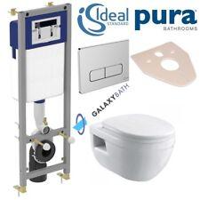 IDEAL STANDARD FRAME + PURA BATHROOMS IVO WALL HUNG TOILET PAN 5in1 SET