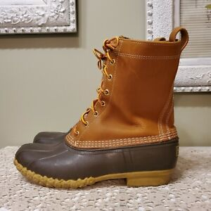 LL BEAN Duck Boots Mens Size 10 M Maine Made in USA