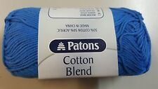 Patons Cotton Blend 8 Ply #35 French Blue Cotton / Acrylic 50g