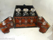 Quality Burr Walnut Tantalus , Decanter & Glass Set Bramah ref 2867