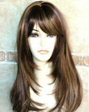 Hot Sell New Fashion Long Brown mix Blonde Women's Lady's Hair Wig Wigs + Cap
