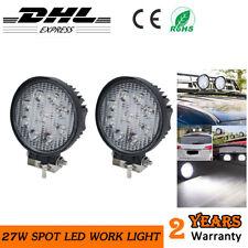 2x 27W Car LED Work Light Round Spotlight 4x4 Offraod Tractor SUV Reverse Lamp