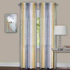 Luxurious Sombre 2 panels window curtain  dip dye trends Mist - Grey / Yellow