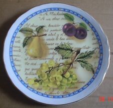 Royal Vale Collectors Plate Still Life Fruit Pears Grapes And Plums