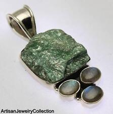 DRUZY LABRADORITE PENDANT 925 STERLING SILVER ARTISAN JEWELRY COLLECTION Y191B