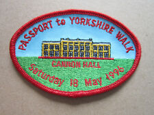 Passport To Yorkshire Walk 1996 Walking Hiking Cloth Patch Badge (L3K)
