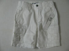 NEW NWT Size 4 Adjustable Waist White Shorts Boys Cargo Style DKNY $34.50