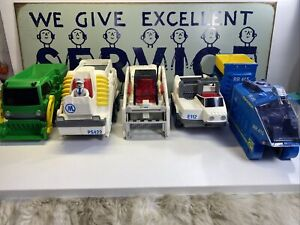 Rokenbok Rc Vehicles And Monorail Lot Of 5 Working Condition