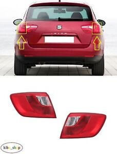 SEAT IBIZA ST 6J 2010 - 2012 NEW REAR OUTER TAIL LIGHT LAMPS PAIR L + R LHD