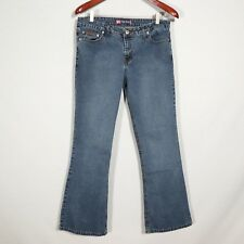 DUCK HEAD womens blue jeans, s 13 average FLARE medium wash 31x30 (our measures)