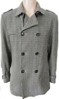 """DANIELE ALESSANDRINI HOUNDS TOOTH TWEED JACKET / COAT WITH BELT CHEST 48"""" MENS"""