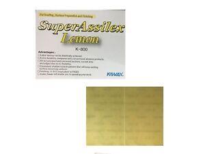 25x Kovax Super Assilex Lemon Streifen Trockenschleifen P800 130*170mm