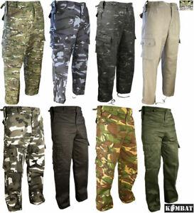 Kombat Mens Tactical Ripstop Combat Trousers Army Cadet Military Camo DPM BTP