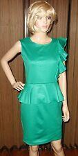 SAMUEL DONG green peplum ruffle Dress Sz XS New