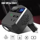 12-24v To 220v Car Truck Converter Power Inverter Usb Charging Socket Adapter