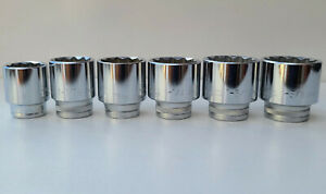 """Sockets Large SAE/Imperial 6pc 1"""" to 1-3/8"""", 1/2"""" Drive, Precision Minimax Tools"""