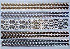 Sensational Oro E Argento Metallico Tatuaggi Temporanei Amelie + FREE Design