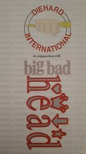 diehard / big bad head pre-flyer 1992 rave flyer