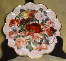 Victorian Rose Bouquet Franklin Mint Plate Numbered Signed