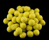 25 Cuentas Bolos De Rotulador Fieltro Natural Ø = 2.1 CM Nepal Amarillo Limón