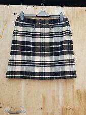 BNWT M&S Size 10 Black & Cream Check Lined Skirt (916)
