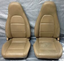 1999-2000 Mazda Miata Seat Pair, Set, Tan Leather