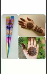 2 X MEHAK HENNA MEHNDI CONE ART TATOO NATURAL HAND MADE FRESH PACK READY TO USE