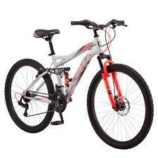 """Mongoose 26"""" Bedlam 21 Speed Shimano Full Suspension Mens Mountain Bike Bicycle"""