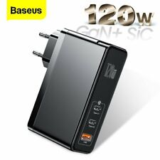Baseus 120W USB Type-C Wall Charger GaN Adapter for iPhone 12 Pro Switch MacBook