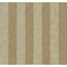 4 Rolls York Wide Stripe Chocolate Brown & Taupe Wallpaper LE4520