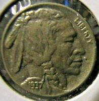 1937 Buffalo Nickel - About Uncirculated detail