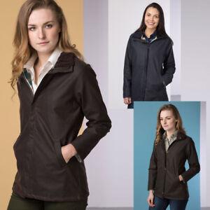 Ladies Wax Jacket Rydale Cawood Women's Waxed Cotton Coat for Walking Shooting
