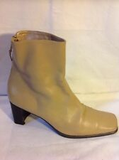 Russell&Bromley Beige Ankle Leather Boots Size 8