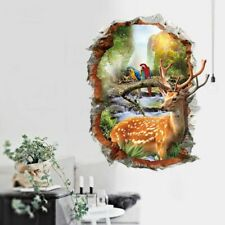 3D Wall Sticker Home Decorative Animals Nature Landscape Wallpaper House Decors