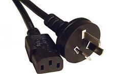 Power Cable Australian Mains Male Plug to IEC C13 Female Socket Black 2m