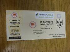 16/08/2013 Ticket: St Patricks Athletic v Shelbourne  (complete). Thanks for vie