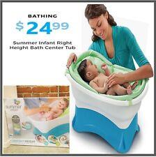 Summer Baby Bath Tub Height - Blue/White